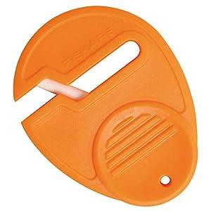 41PpeRxklkL. SS300  - Fiskars Afilador de Tijeras Universal, para diestros y zurdos, Afilador de cerámica/Cubierta de plástico, Naranja…