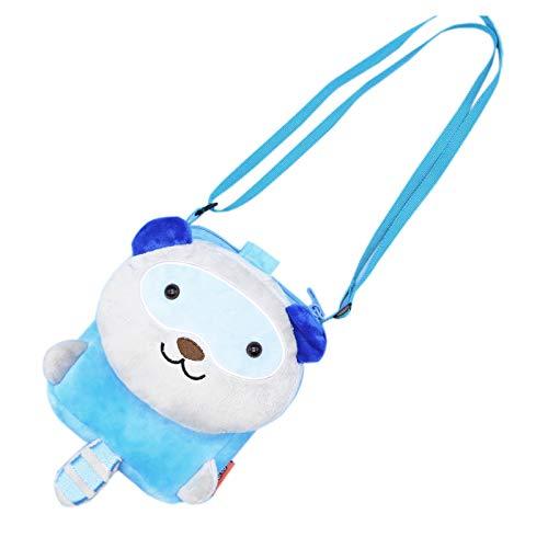 ZumZup Mini Umhängetasche für Kind Geldbörse Schlüsselbeutel Kindertasche Schultertasche als Geschenk Cartoon-Waschbär
