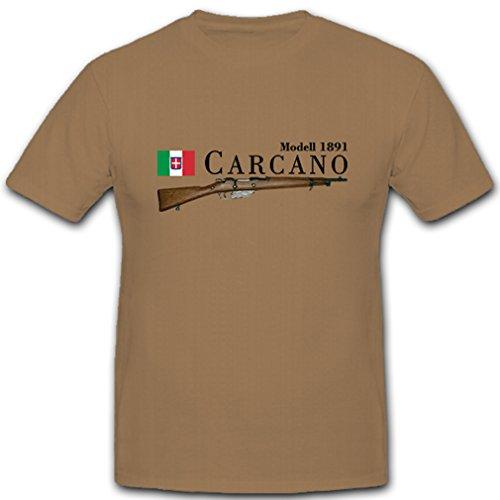 Carcano Modell 1891 italienisches Gewehr Karabiner Italien - T Shirt #10536, Farbe:Sand, Größe:Herren S