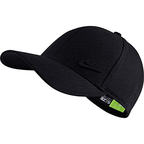 NIKE U NSW L91 Metal Futura Cap Hat, Black/Black, 1SIZE Unisex-Adult