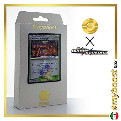 Labirinto Meraviglioso (Labyrinthe Miracle) 158/181 Holo Prisme - #myboost X Sole E Luna 9 Gioco di Squadra - Coffret de 10 Cartes Pokemon Italiennes