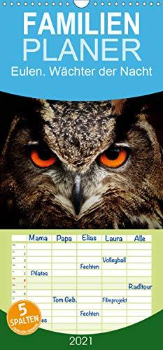 Eulen. Wächter der Nacht - Familienplaner hoch (Wandkalender 2021 , 21 cm x 45 cm, hoch): Die mystischen Waldbewohner mit großer Fan-Gemeinde (Monatskalender, 14 Seiten ) (CALVENDO Tiere)