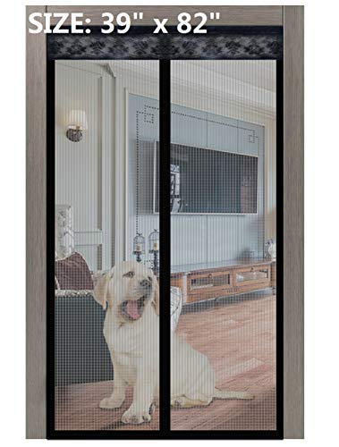 Magnetic Screen Door 2020 New 02 39x82 Inches,Upgrade Screen Doors with Strong Magnet Heavy Duty Mesh Curtain Full Frame Hook&Loop,for Front Door Apartments, Anti Mosquito Bugs,Pet Kid Entry Friendly
