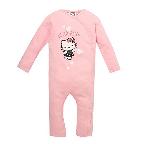 Hello Kitty Strampler, Anzug, Glitzereffekt, rosa, Gr. 62-92 Größe 12M