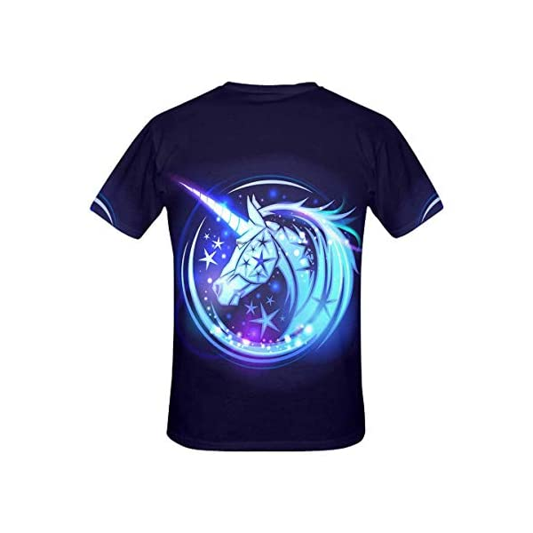 InterestPrint Women's T-Shirt Unicorn Head Stars Casual Tops (XS-2XL) 4