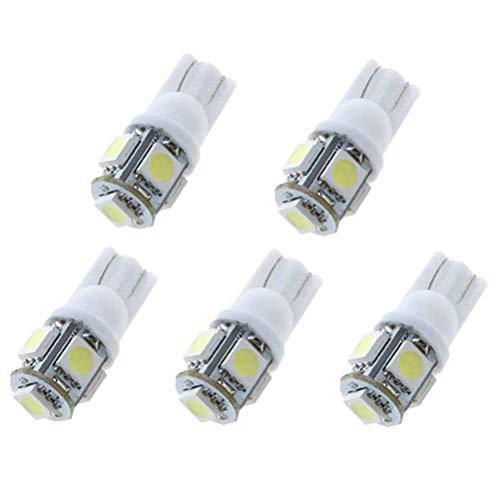 5PCS/Set T10 LED Ampoules de Voiture Lampe 5050 SMD Intérieur De Voiture Lumière Dôme Carte Côté Feux De Plaque Feu De Stationnement Sans Erreur pour Corolla 2014