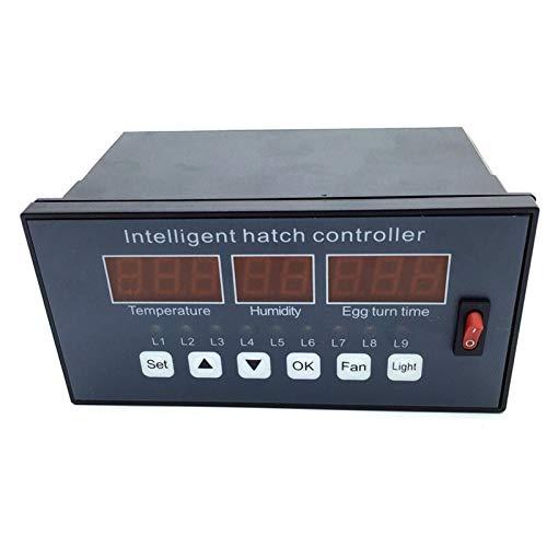 YEZIO Calentador de Mascotas Incubadora Controlador Automático y multifunción Huevo incubadora de Ventilador del Sistema de Control Interruptor de Temperatura y sensores de Humedad