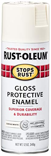 Rust-Oleum 7789830 Stops Rust Spray Paint, 12-Ounce, Gloss Canvas White