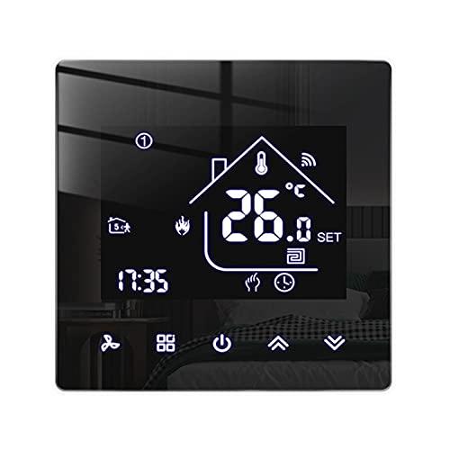 Beok Tuya Smart Thermostate Heizungsthermostat Raumthermostat WiFi-Thermostat Intelligente Wandthermostat für elektrische Fußbodenheizung Kompatibel Alexa,Google 16A TGR85WIFI