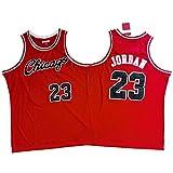 OKMJ Jordan - Maillots de baloncesto para hombre, Bulls 23# Retro bordado Swingman Jersey, transpirable de secado rápido, ropa deportiva S-2XL rojo B-XL