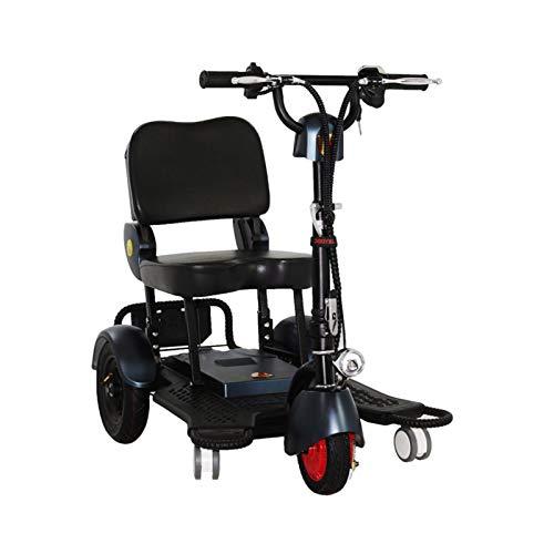 LINGZE E-Scooter Plegable, Bicicleta eléctrica Ligera, batería Recargable de 48 V Ajustable con Pantalla Digital para Adultos