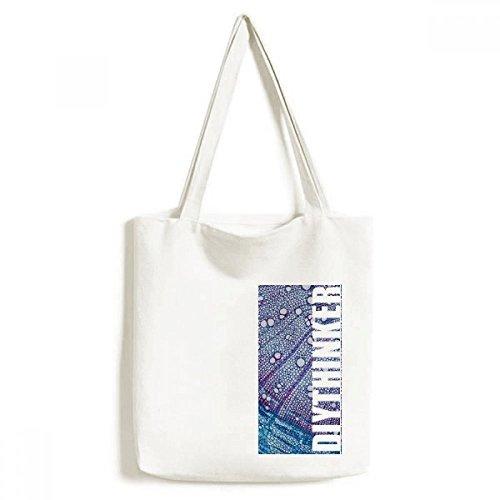 DIYthinker Wissenschaft, Pflanze, Blau Zelle Muster-Tasche Einkaufstasche Kunst Waschbar 33cm x 40 cm (13 Zoll x 16 Zoll) Mehrfarbig