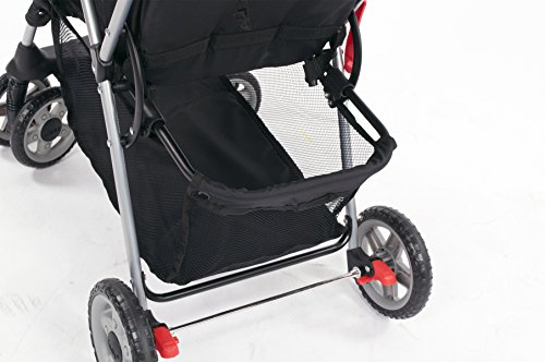 Kolcraft Cloud Plus Lightweight Stroller with 5-Point Safety System and Multi-Positon Reclining Seat