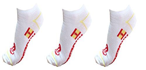 FREEGUN - Chaussettes homme & enfant sneakers X3 - Espagne - 27/30, Blanc