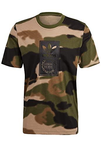 adidas GN1863 Camo AOP Tongue T-Shirt Mens Wild Pine/Multicolor/Black M