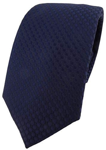 TigerTie - Corbata - marina azul oscuro lunares