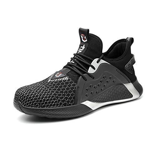jincan Zapatos de Seguridad para Hombre Zapatillas con Punta de Acero Zapatos de Trabajo Ligeros Zapatillas industriales Transpirables para Mujer - JI04