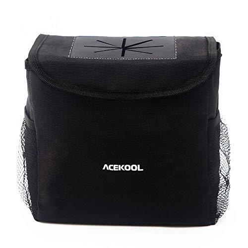 Acekool 車用ゴミ箱 車載 ダストボックス 防水内装 倒れない 折り畳み可能 ふた付き 固定可能 洗濯可能 簡単に取付可能 汎用 小物入れ おしゃれ 車内ごみ箱