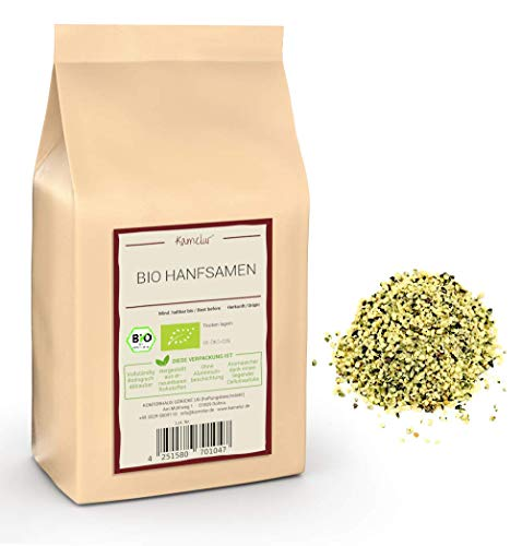 1kg BIO Hanfsamen geschält und ungeröstet – Hanf Samen (hemp seeds) als nussiges Topping zu Müsli und Salat – hochwertige Hanfsamen geschält BIO