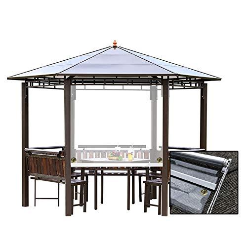GDMING Rideaux Extérieurs Transparents, PVC Fenêtres/Portes Plastique Ombre Rideaux, Imperméabiliser Cloison Écran pour Belvédère Patio Jardin Tente, 41 Tailles (Color : Clair, Size : 1x2m)