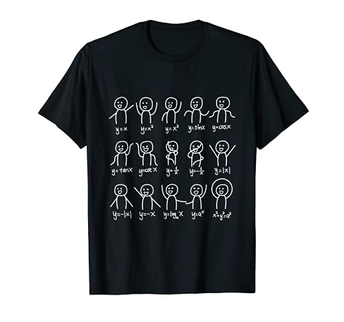 代数ダンスおかしい関数グラフ図科学数学方程式 Tシャツ