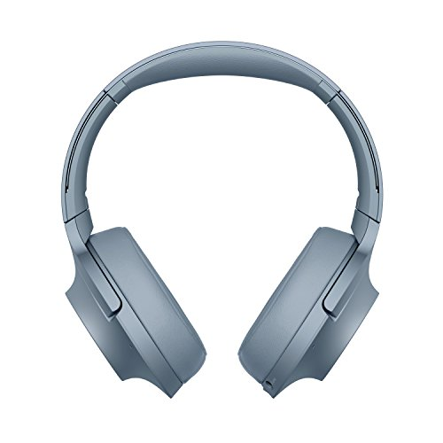 Sony WH-H900N High-Resolution Kopfhörer, Kabelloser, Noise Cancelling, blau, mit Alexa-Integration