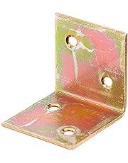 GAH-Alberts 332686 versterkingshoek - elektrolytisch geel verzinkt - 40 x 40 x 40 mm - set van 25