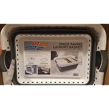 Space saving laundry basket