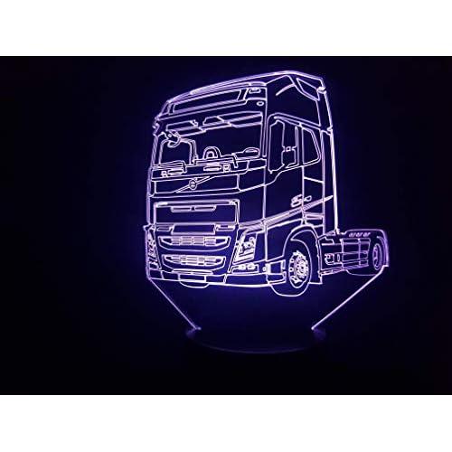 VOLVO (2), Lampada illusione 3D con LED - 7 colori.