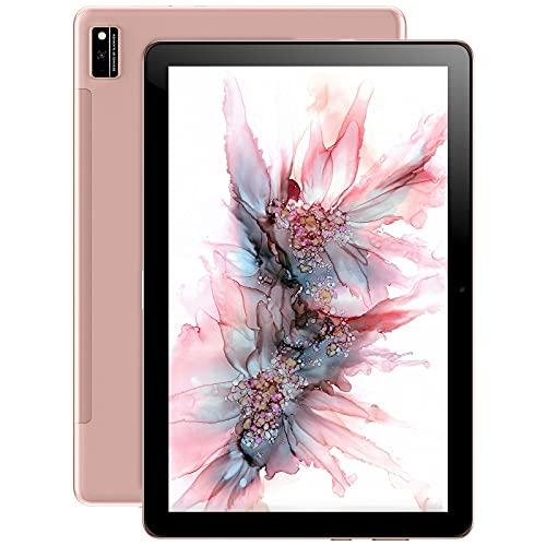 Blackview Tab10 Android 11 Tablet 10 pollici FHD+ con 7480mAh Batteria, 4GB RAM+64GB ROM, MTK8768 Octa-Core, 128GB Espandibili, Fotocamera 13MP+8MP, Dual 4G LTE+5G WIFI Tablet in Offerta -Oro Rosa