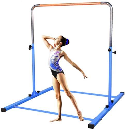 SHIWEI TJ Fitness Gymnastics Training Bar- Height Adjustable 3' to 5' Horizontal Kip Bar for Kids (Pink)