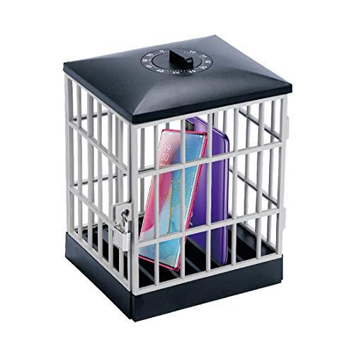 Cárcel para teléfono móvil con temporizador, cárcel para teléfono móvil, cárcel para teléfono móvil con cerradura, jaula para teléfono, regalo divertido y novedoso para el hogar, el aula, la oficina