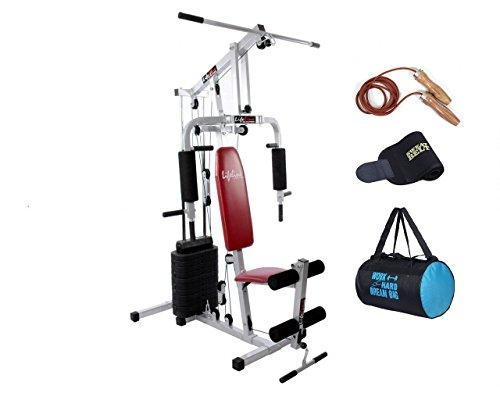 Lifeline Hg 002 Square Home Gym | | Bonus Gym Bag and Sweat Belt &Leather (Weatherproof) Skipping...