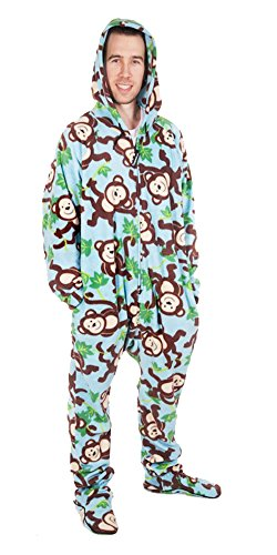 Forever Lazy Footed Adult Onesie - Big Chimpin' - L