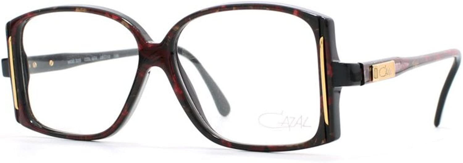 Cazal 326 674 Burgundy Certified Vintage Square Eyeglasses Frame For Womens