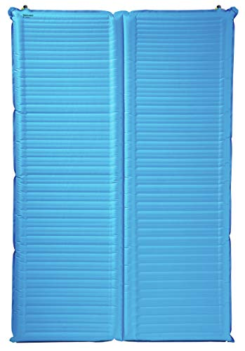 Therm-a-Rest NeoAir Camper Duo 2-Person Camping Air Mattress with WingLock Valve, Mediterranean Blue (040818132845)