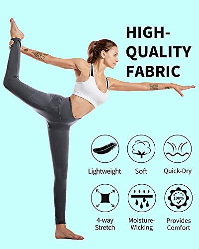 CAMBIVO Leggins Mujer, Mayas Deportivas Cintura Alta, Pantalón Mallas de Deporte para Yoga, Running, Fitness, Estiramiento, Pilates