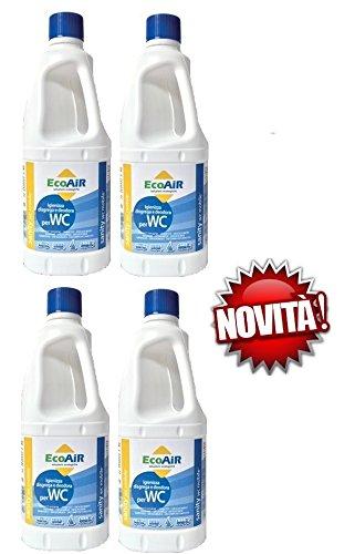 Sanity WC liquide pour réservoir eaux noires WC Camper principe actif Aqua Kem * * * 4 bouteilles de 1 litre * * *
