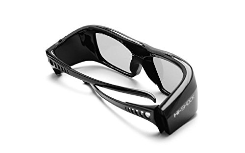2x Hi-SHOCK RF Pro Black Diamond | RF 3D Brille für Epson, SONY RF Beamer | komp. mit VPL-VW1000, VPL-VW520, VPL-VW320, VPL-HW45 ES, VPL HW65 ES [Shutterbrille | 120 Hz | Akku | 39g | FHD3D RF]