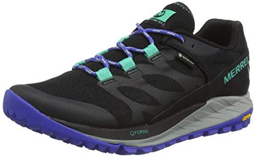 Merrell Antora GTX, Zapatillas de Running para Asfalto para Mujer, Negro (Black/Dazzle), 39 EU