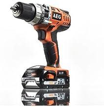 AEG BSB 18C drill Sin llave Negro, Naranja 1,9 kg - Taladro eléctrico (1,3 cm, 1,4 cm, 4,5 cm, 60 Nm, 1,5 m/s², 350 RPM)