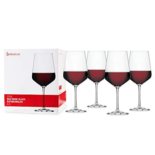 Spiegelau & Nachtmann, 4-teiliges Rotweinglas Set, Kristallglas, 630 ml, Style, 4670181