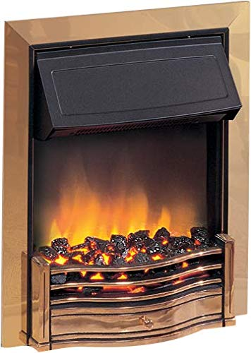 Dimplex Danesbury Inset Electric Fire Brass 2kw c/w Real Coal Effect