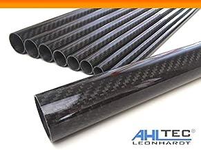 CFK Carbon Rohr gewickelt 30x28x1000 mm geschliffen und lackiert