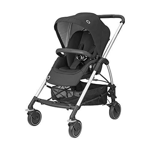 Bébé Confort Mya, Compacte et légère, Poussette citadine, De la naissance à 3,5 ans (0-15 kg), Essential Black