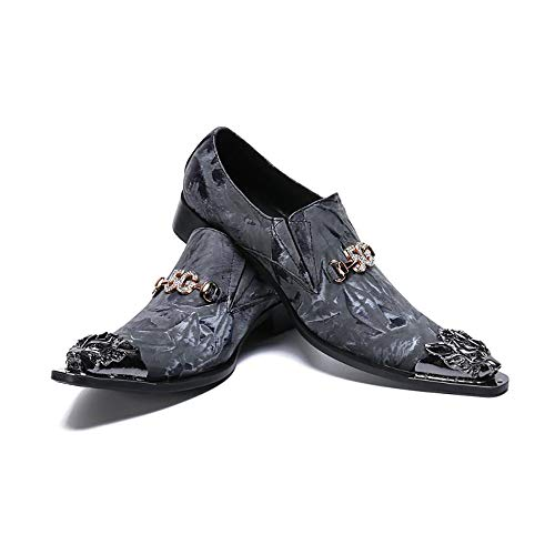 JFSKD Zapatos Formales de Hombre, Vestido de Negocios Informal de Moda Juvenil...