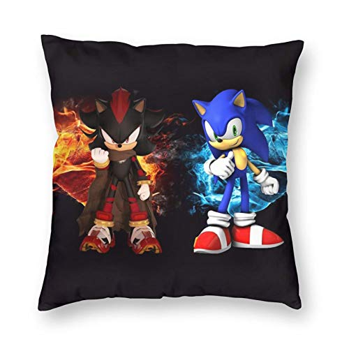 liang4268 Sonic The Hedgehog (3) Kissenbezug Stuhl Kissen Cartoon Bett Kissen Autositz Kissen Wurf Sofa Kissenbezug 40cm*40cm Kissenbezüge