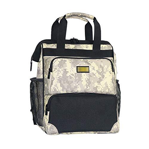 Qiming Portable Tool Bag Mochila portátil Bolsa Multifuncional Herramienta portátil Bolsa de Almacenamiento Bolsa de Herramientas Multiuso Hardware Kit (Color : Camouflage, Size : 30 * 18 * 40cm)