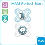 MAM Perfect Start 70584711 Tétine en silicone Bleu 0-2 mois