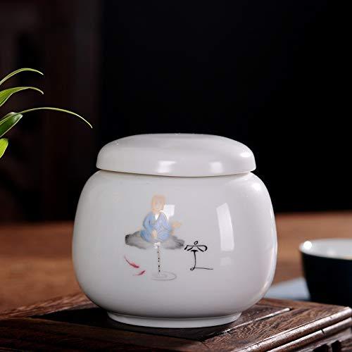 Tetera de porcelana blanca alta Caja de té de cerámica pequeña Vidrio sellado Vaso de medicación Portátil 1 paquete de 2 Mini personalizado, té vacío, suelto 1 paquete de 2, capacidad de agua 200 ml